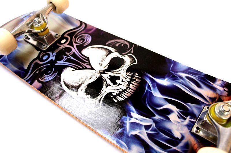 Скейтборд Профессиональный скейт Skateboard Skull из клена для трюков до 80 кг