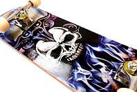 Скейтборд Профессиональный скейт Skateboard Skull из клена для трюков до 80 кг, фото 1