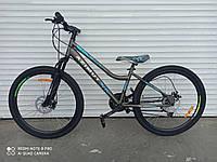 Подростковый велосипед с низкой рамойAzimut Pixel24D серый 85% собран.в коробке + КРЫЛЬЯ В ПОДАРОК!!!!