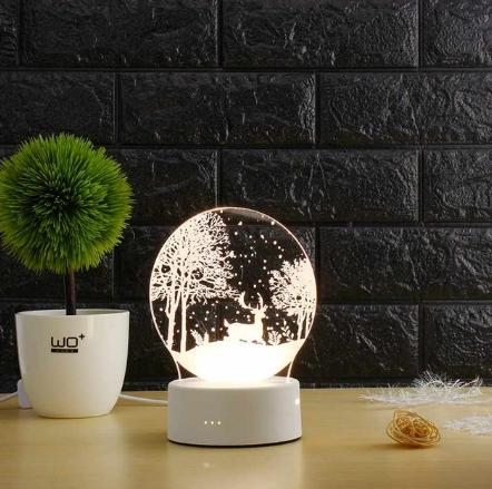 3D светильник Новый год (3 D ночник, 3 D лампа)