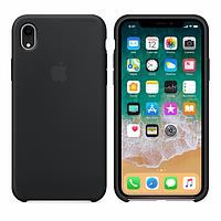 Чехол для iPhone Xr Silicone Case силиконовый с бархатом микрофиброй накладка чохол на айфон хр черный 18