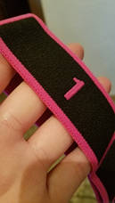 Эспандер лента с петлями (для растяжки) резиновая эластическая лента эспандер с цифрами 8 петель, фото 2