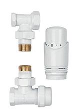 Комплект термостатический угловой белый INVENA