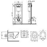 Набір унітаз з сидінням Q-tap Swan WHI 5178 + інсталяція Nest M425-M11CRM, фото 2