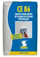 Армированная микроволокном шпатлевка SEMIN CE 86 для стыков ГКП 20кг
