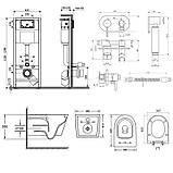 Звоните. Будет дешевле. Комплект Q-tap унитаз с сиденьем Jay WHI 5176 + инсталляция Nest M425-M11CRM + набор, фото 2