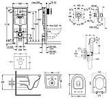 Звоните. Будет дешевле. Комплект унитаз с сиденьем Q-tap Swan WHI 5178 + инсталляция Grohe Rapid SL 38721001 +, фото 2