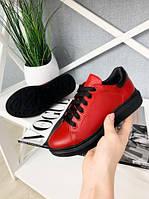 Туфли красные для девочек на платформе кожаные с ортопедической стелькой размер с 32 по 39 Украина