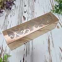 Коробка для макарун золотая