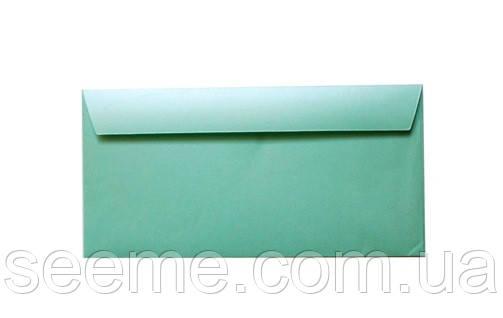 Конверт 220x110 мм, цвет зелено-голубой (teal)