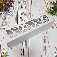 Коробка картонная для макарун  белая, фото 1