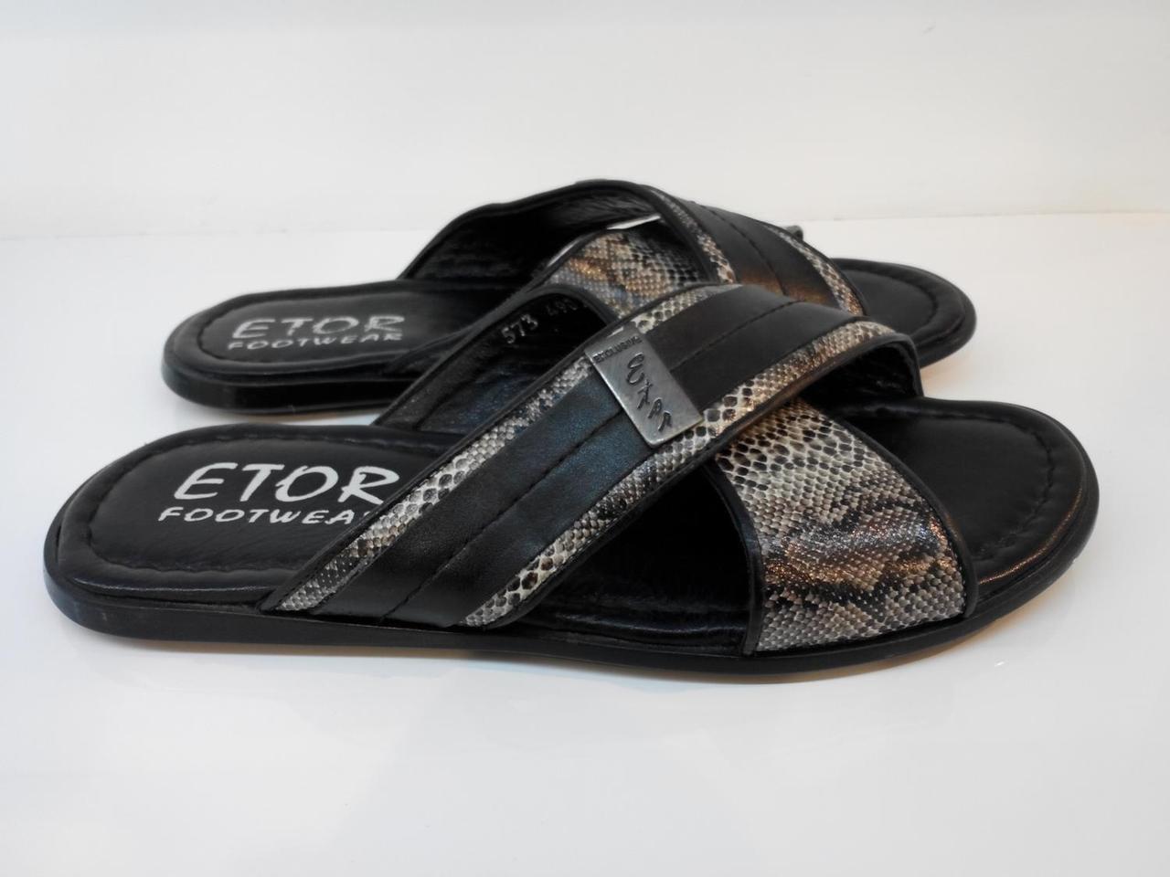 Шльопанці Etor 573-3715-633 чорний