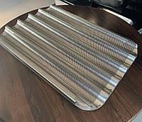 Противень (деко) алюминиевый для багетных рулетов 5 желобов