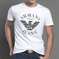 Модная мужская футболка Armani, стильна чоловіча футболка Армані