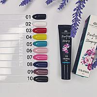 Гель краска 2в1 для стемпинга и рисования на ногтях Global Fashion 8мл