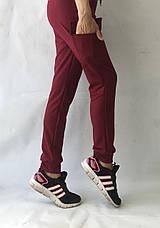 Спортивные брюки с накладными карманами N° 125 бордовый, фото 2