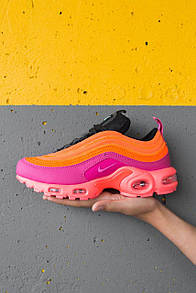 """Женские кроссовки Nike Air Max Plus / 97 """"Racer Pink"""" / Найк Аир Макс Плюс/97  Розовые/Оранжевые"""