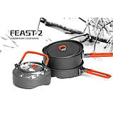 Набір посуду для 2-3 персон Fire-Maple Feast 2 чорнi  ручки, фото 4