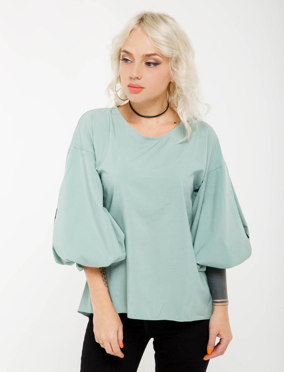 Женская блузка цвета фисташка