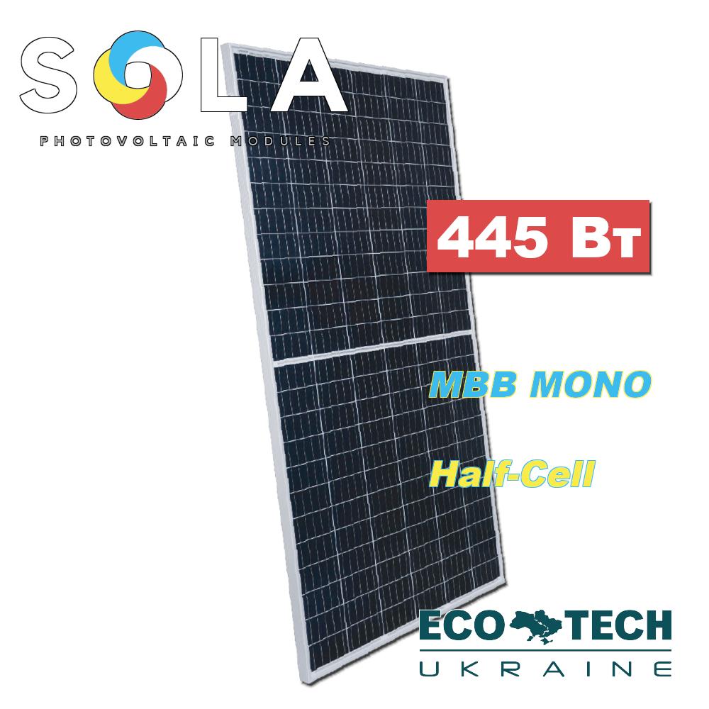 Батарея солнечная Sola SOLA-S144/NH/445, монокристаллическая, 445 Вт