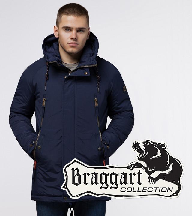 Braggart Arctic 3587 | Мужская зимняя парка синяя
