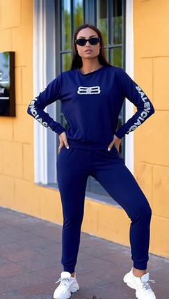 Синий спортивный костюм Minova Размеры: 42.44.46.48.50.52.54.56., фото 2