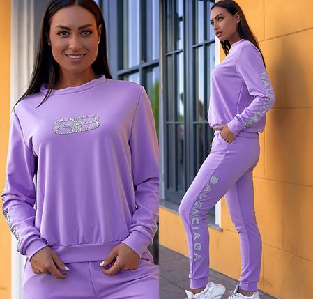 Сиреневый спортивный костюм Minova Размеры: 42.44.46.48.50.52.54.56., фото 2