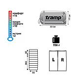 Спальний мішок Tramp Fluff помаранчевий / сірий  R TRS-037-R, фото 2