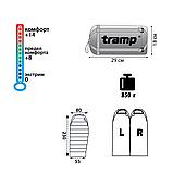 Спальний мішок Tramp Mersey оранж / сірий L TRS-038-L, фото 2