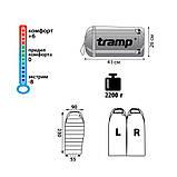 Спальный мешок Tramp Siberia 5000 XL индиго/черный  R TRS-041-R, фото 3