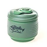 Кружка складная силиконовая с крышкой  Tramp TRC-082-green, фото 2