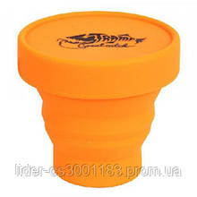 Стаканскладнойсиликоновыйскрышкой  TrampTRC-083-orange