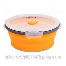 Контейнерскладнойскрышкой-защелкойTramp  TRC-087-orange