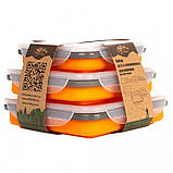 Набор из 3х контейнеров силиконовых Tramp  TRC-089-orange, фото 2