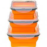 Набор из 3х контейнеров силиконовых Tramp  TRC-089-orange, фото 4