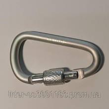 Карабін алюмінієвий Tramp з муфтою 6 см, TRA-007  білий