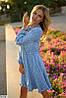 Женское платье в горошек до колен, размеры SМ, ML, фото 2