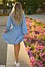Женское платье в горошек до колен, размеры SМ, ML, фото 4