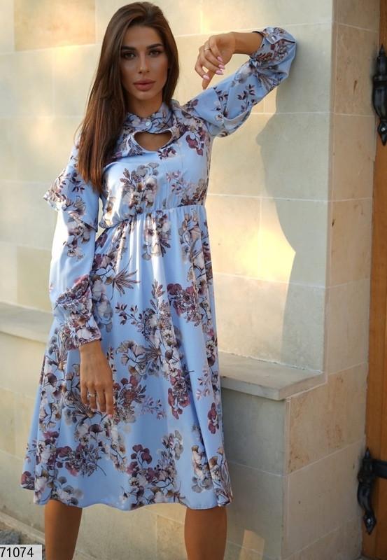 Женское платье миди в стиле кэжуал с цветочным принтом р. SM, LXL