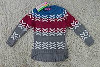 Детский вязаный свитер  для девочки, р.98-140