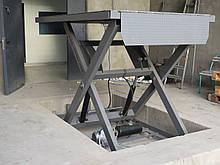Підйомний стіл для розвантаження вантажівки. Платформа 2,5х1,5м, В/п 1т.