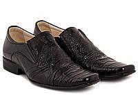 Лаковые кожаные туфли ETOR