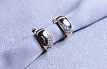Сережки фірми Xuping позолота, з блакитними камінням (color 60), фото 2