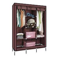 Складаний тканинний шафа RIAS 88130 Storage Wardrobe 175х130х45 см Brown (2_009505)