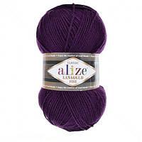 Пряжа Alize LanaGold Classic 100гр - 240м (111 Темно-фиолетовый), 51% акрил, 49% шерсть, Турция