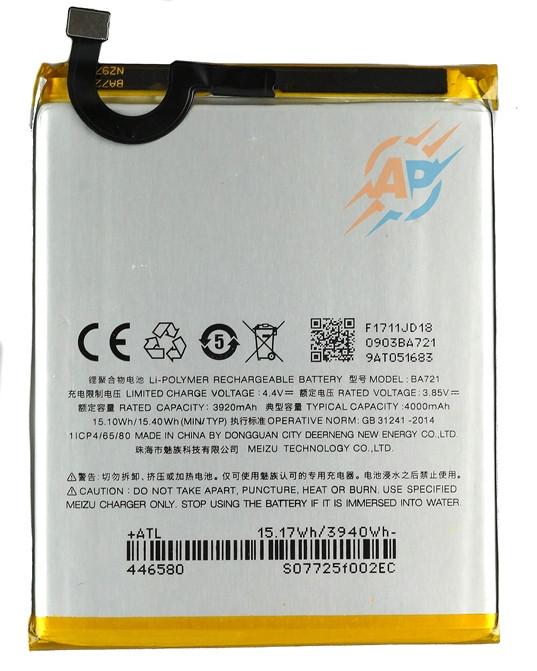 Аккумулятор для смартфона Meizu M6 Note (BA721) 4000mAh 15.4 Wh