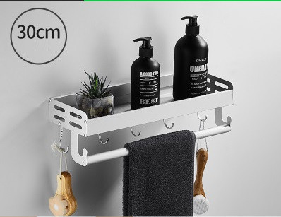 Полочки с крючками в ванную комнату. Два цвета, от 30 до 80 см. Модель RD-9195