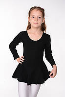 Детский купальник с юбкой для танцев (хлопок) Черный