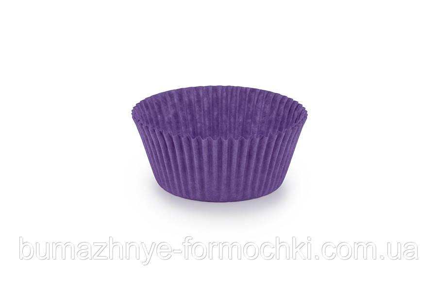 Одноразові фіолетові формочки для випічки кексів, 40х24 мм