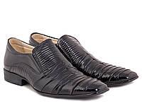 Мужские туфли из лаковой кожи